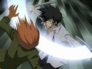 Hibari Attacks Ken