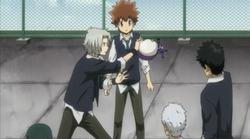 G Stopping Skull From Hitting Tsuna