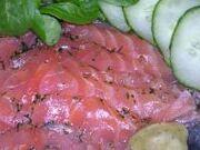 Gravlax (marinated salmon)