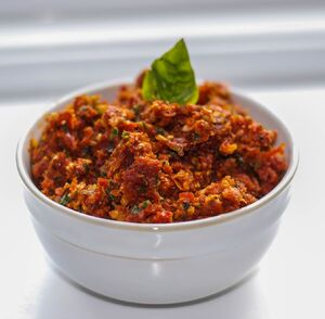 Sun Dried Tomato Pesto-Carrie's Experimental Kitchen