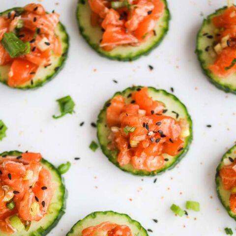 File:Salmon-cucumber-appetizer.jpg
