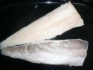 Frozen hake fillets