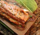 Roasted salmon with maple-mustard glaze