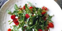 Watercress Strawberry Salad with Homemade Poppy Seed Dressing