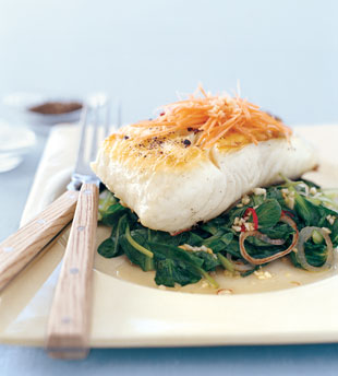 File:Mare grilled halibut with tatsoi and spicy thai chiles v.jpg