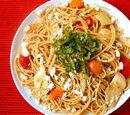 Feta and Tomato Spaghetti