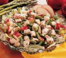 Asparagus Apple and Chicken Salad
