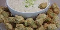 Fried Okra Cajun-style with Remoulade Sauce