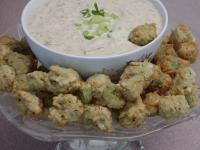 Fried Okra Cajun Style With Remoulade Sauce