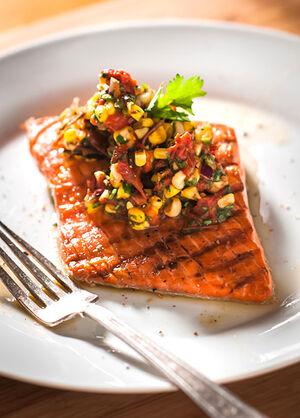 Salmon-with-corn-salsa