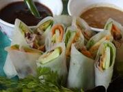 Duck Sping Rolls with Dipping Sauces