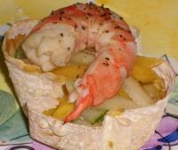 Thai Mango Salad With Marinated Shrimps