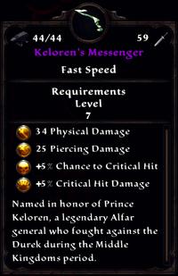 Kelorens Messenger Inventory