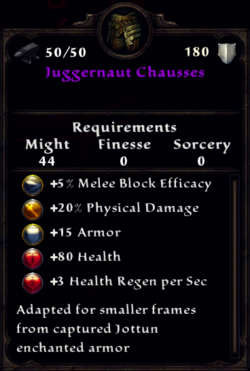 Juggernaut Chausses Inventory