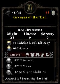 Greaves of har'bah
