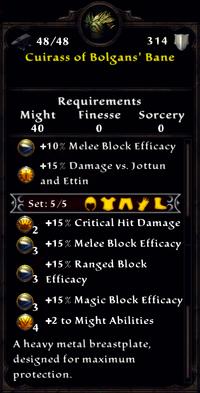 Cuirass of Bolgan's Bane Inventory
