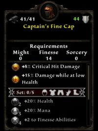Captain fine cap