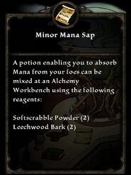 MinorManaSap