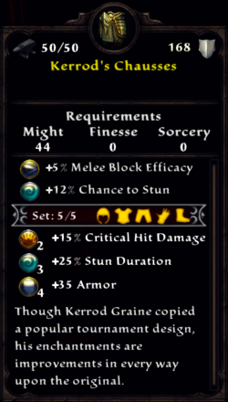 Kerrod's Chausses Inventory