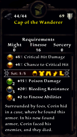 Cap of the Wanderer Inventory