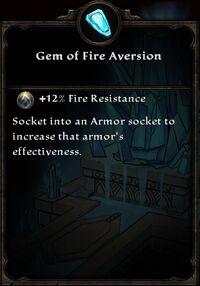Gem of Fire Aversion