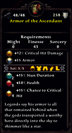 Armor of the Ascendant Inventory