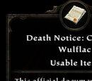 Death Notice: Camden Wulflac