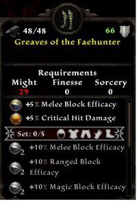 Greaves of the Faehunter