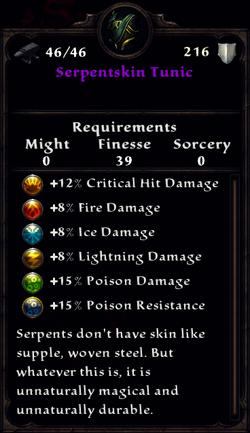 Serpentskin Tunic Inventory