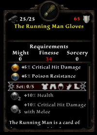 The running man gloves