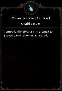 Minor Freezing Sentinel