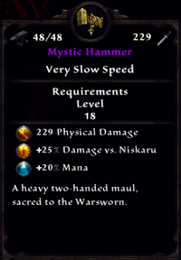 Mystic Hammer Inventory