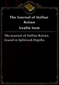 The Journal of Stellan Reitan Inventory Card