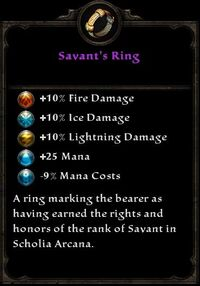 Ring Unique Savant's Ring