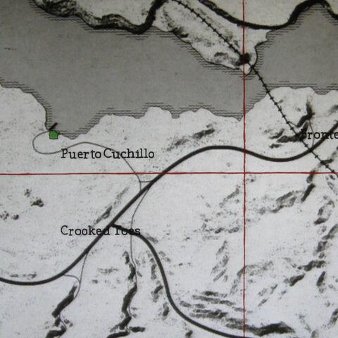 Mapa de localización del lugar.