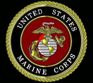 Seal USMC black