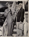 1951 Boarding Airplane with Gus