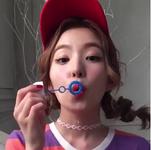 Irene blowing bubbles 3