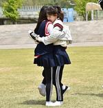 Wendy and Irene Hugging