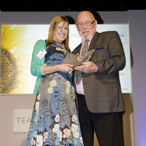 Brian Jacques with Laura Johnston