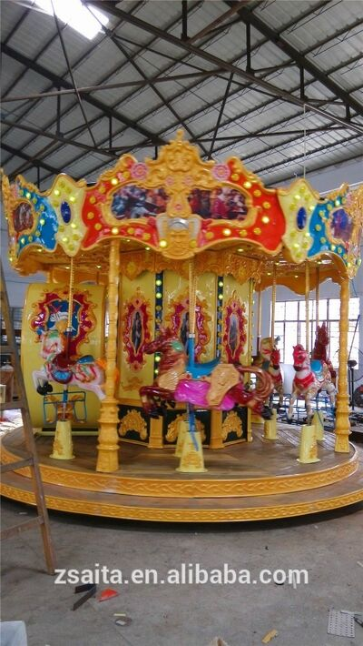 Professional deluxe 12 seats carousel for sale