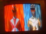 Super Megaforce - Red Lightspeed Ranger and Titanium Ranger