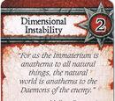 Dimensional Instability