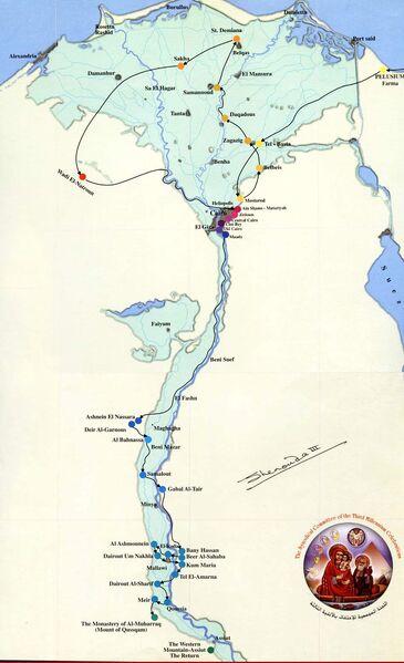MapOfHolyFamilyInEgypt