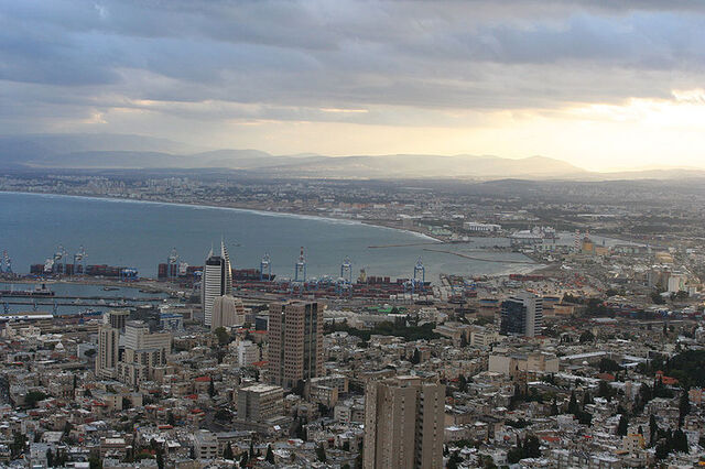 File:Sunrise at Haifa Bay.jpg