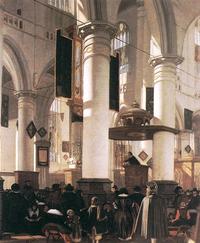 Interior of a Calvinist church