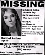 Rachel Amber Missing Person Poster