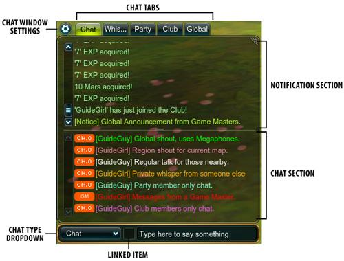 Gg interface chatwindow