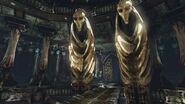 Alien statues