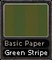 Basic Paper Green Stripe